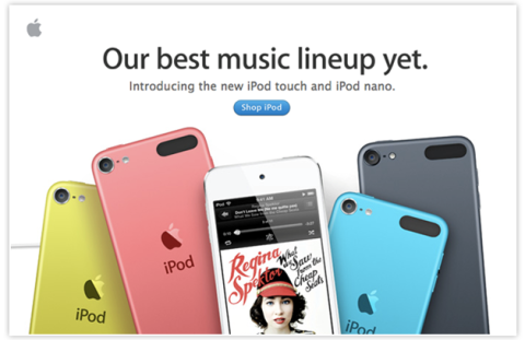 Email Design Example from Apple
