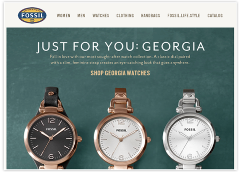 Email Design Sample from Fossil