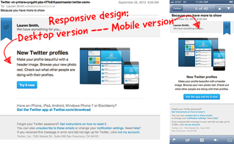 Responsive Email design Example