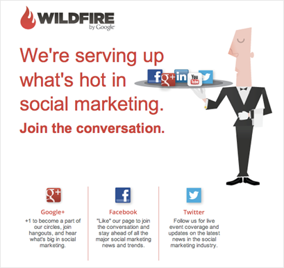 B2B Social Media Email Example
