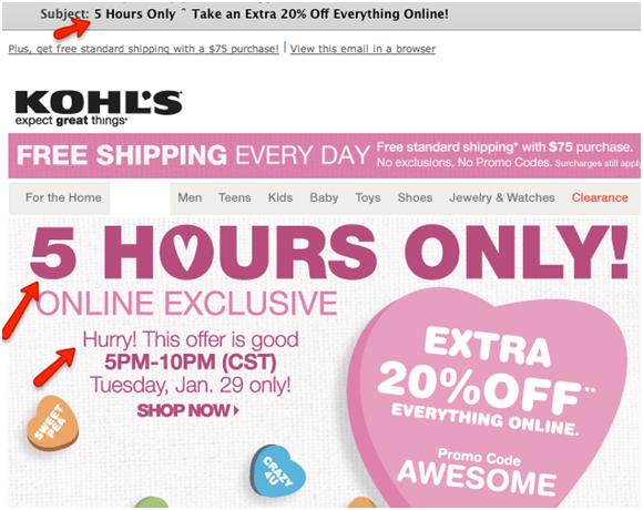 Using sense of urgency in email marketing