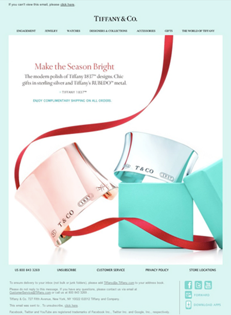 Tiffany and Co Email Example